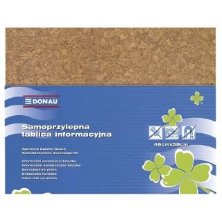 Tablica informacyjna DONAU, 58x46cm, samoprzylepna, brązowa, Tablice, Prezentacja