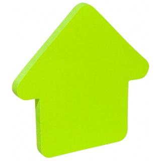 Bloczek samoprzylepny DONAU, 1x50 kart., w kształcie strzałki, zielony