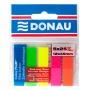 Zakładki indeksujące DONAU, PP, 12x45mm, 5x25 kart., mix kolorów, Bloczki samoprzylepne, Papier i etykiety