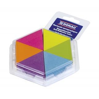 Bloczek samoprzylepny DONAU, notes-trójkąt, 43x50mm, 6x150 kart., neonowe