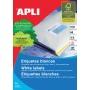 Etykiety uniwersalne APLI, 70x33,8mm, prostokątne, białe 100 ark.