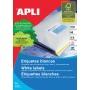 Etykiety uniwersalne APLI, 105x48mm, prostokątne, białe 100 ark., Etykiety samoprzylepne, Papier i etykiety