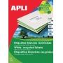 Etykiety ekologiczne APLI, 70x37mm, prostokątne, białe, Etykiety samoprzylepne, Papier i etykiety
