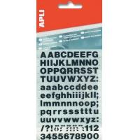 Litery samoprzylepne APLI, 30mm, czarne, Etykiety samoprzylepne, Papier i etykiety