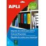Etykiety samoprzylepne do segregatora APLI,  61x190mm,  100szt.,  żółte