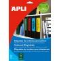Etykiety samoprzylepne do segregatora APLI,  61x190mm,  100szt.,  zielone