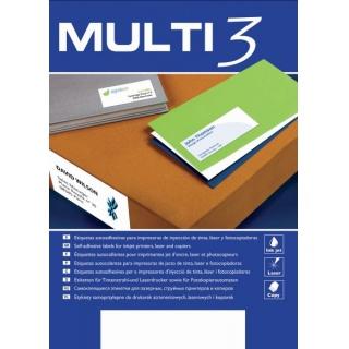 Etykiety uniwersalne MULTI 3,210x297mm, prostokątne, białe 100 ark.