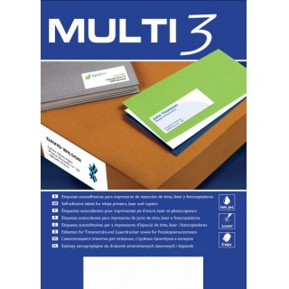 Etykiety uniwersalne MULTI 3,105x70mm, prostokątne, białe 100 ark.