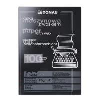 Kalka maszynowa DONAU z woskiem, A4, 100szt., czarna, Kalki, Papier i etykiety