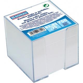 Kostka DONAU nieklejona, w pudełku, 92x92x82mm, biała, Kostki, Papier i etykiety