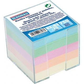 Kostka DONAU nieklejona, w pudełku, 92x92x82mm, mix kolorów, Kostki, Papier i etykiety