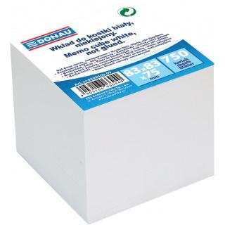 Kostka DONAU nieklejona, 83x83x75mm, biała, Kostki, Papier i etykiety