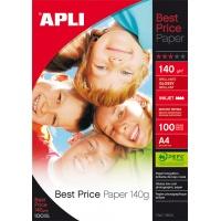 Papier fotograficzny APLI Best Price Photo Paper, A4, 140gsm, błyszczący, 100ark., Papiery specjalne, Papier i etykiety