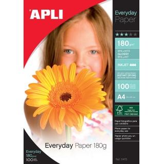 Papier fotograficzny APLI Everyday Photo Paper, A4, 180gsm, błyszczący, 100ark., Papiery specjalne, Papier i etykiety