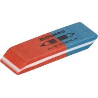 Gumka wielofunkcyjna DONAU, 57x19x8mm, blister - 2szt., niebiesko-czerwona, Gumki, Artykuły do pisania i korygowania