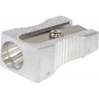 Temperówka DONAU, aluminiowa, pojedyncza, srebrna, Temperówki, Artykuły do pisania i korygowania