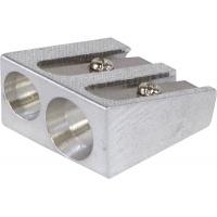 Temperówka DONAU, aluminiowa, podwójna, srebrna, Temperówki, Artykuły do pisania i korygowania