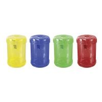 Temperówka DONAU, plastikowa, pojedyncza, duża beczka, mix kolorów, Temperówki, Artykuły do pisania i korygowania