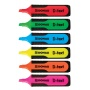 Zakreślacz fluorescencyjny DONAU D-Text, 1-5mm (linia), 4szt., mix kolorów, Textmarkery, Artykuły do pisania i korygowania