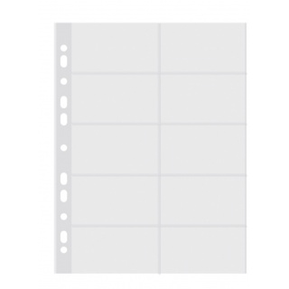 Koszulki na wizytówki DONAU, PP, A4krystal, 50mikr., Koszulki i obwoluty, Archiwizacja dokumentów