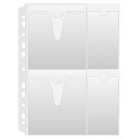 Koszulki na płyty CD/DVD DONAU, PP, A4, groszkowe, 160mikr., Koszulki i obwoluty, Archiwizacja dokumentów