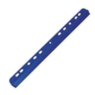 Listwa zaciskająca DONAU, PVC, A4, 6mm, do 60 kartek, z europerforacją, niebieska, Listwy zaciskające i samoprzylepne, Archiwizacja dokumentów