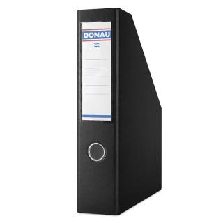 Pojemnik na dokumenty DONAU, PP, A4/75mm, czarny, Pojemniki na dokumenty i czasopisma, Archiwizacja dokumentów