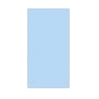 Przekładki DONAU, karton, 1/3 A4, 235x105mm, 100szt., niebieskie, Przekładki kartonowe, Archiwizacja dokumentów
