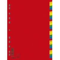 Przekładki DONAU, PP, A4, 230x297mm, 1-31, 31 kart, mix kolorów, Przekładki polipropylenowe, Archiwizacja dokumentów