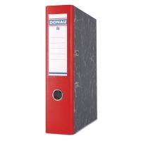 Segregator DONAU Marble, PP-karton, A4/75mm, czerwony, Segregatory kartonowe, Archiwizacja dokumentów