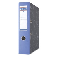 Segregator DONAU Marble, PP-karton, A4/75mm, niebieski, Segregatory kartonowe, Archiwizacja dokumentów