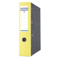 Segregator DONAU Marble, PP-karton, A4/75mm, żółty, Segregatory kartonowe, Archiwizacja dokumentów