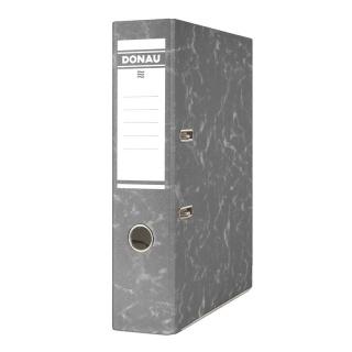 Segregator DONAU Eco, kartonowy, A4/75mm, czarny, Segregatory kartonowe, Archiwizacja dokumentów