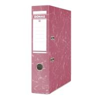 Segregator DONAU Eco, kartonowy, A4/75mm, czerwony, Segregatory kartonowe, Archiwizacja dokumentów