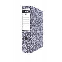 Segregator DONAU Archiv-S z szyną, kartonowy, A4/75mm, szary, Segregatory kartonowe, Archiwizacja dokumentów
