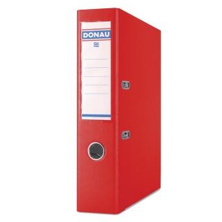 Segregator DONAU Master-S z szyną, PP, A4/75mm, czerwony, Segregatory polipropylenowe, Archiwizacja dokumentów