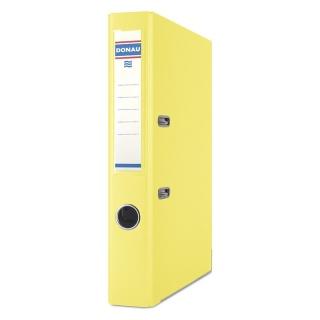 Segregator DONAU Master-S z szyną, PP, A4/50mm, żółty, Segregatory polipropylenowe, Archiwizacja dokumentów