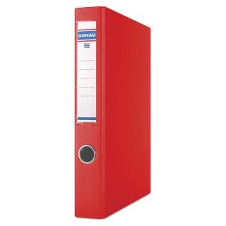 Segregator ringowy DONAU, PP, A4/4RD/30mm, czerwony, Segregatory ringowe, Archiwizacja dokumentów