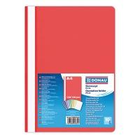 Skoroszyt DONAU, PP, A4, standard, 120/180mikr., czerwony, Skoroszyty podstawowe, Archiwizacja dokumentów