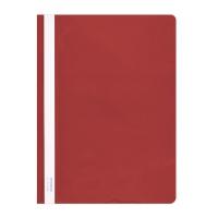 Skoroszyt DONAU, PVC, A4, twardy, 150/160mikr., czerwony, Skoroszyty podstawowe, Archiwizacja dokumentów