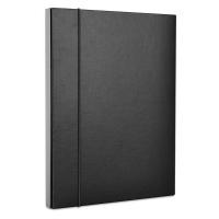 Teczka-pudełko z gumką DONAU, PP, A4/30, czarna, Teczki przestrzenne, Archiwizacja dokumentów