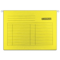 Teczka zawieszkowa DONAU, A4, 230gsm, żółta, Teczki zawieszkowe, Archiwizacja dokumentów