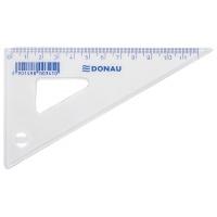 Ekierka DONAU, mała, 12cm, 60°, transparentna, Linijki, ekierki, kątomierze, Artykuły do pisania i korygowania