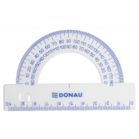 Kątomierz DONAU, 10cm, 180°, transparentny, Linijki, ekierki, kątomierze, Artykuły do pisania i korygowania