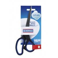 Nożyczki biurowe DONAU Soft Grip, 16,5cm, niebieskie