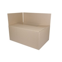 Pudło pakowe, zamykane, 550x400x322mm, szare, Pudła pakowe, Koperty i akcesoria do wysyłek
