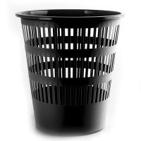 Kosz na śmieci DONAU, ażurowy, 12l, czarny, Kosze plastik, Wyposażenie biura