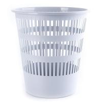 Kosz na śmieci DONAU, ażurowy, 12l, szary, Kosze plastik, Wyposażenie biura