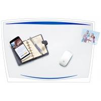 Podkładka na biurko CEP Ice, 65,6x44,8cm, transparentna niebieska