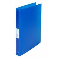 Segregator ringowy Q-CONNECT, PP, A4/4R/25mm, transparentny niebieski, Segregatory ringowe, Archiwizacja dokumentów